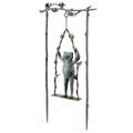 Frog and Swing Garden Sculpture | Daredevil | SPI Home | 34797 -3