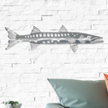 Barracuda Stainless Steel Wall Art   R Mended Metals   100505 -2