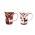 Holiday Reindeer Bone China Mug Set of 2 | McIntosh Trading Reindeer Mug | MTMMC020179 -2