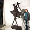 Child Riding Ostrich Bronze Outdoor Statue | Metropolitan Galleries | SRB96090