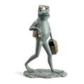 """Frog Garden Sculpture """"Suave Shopper""""   34868   SPI Home -2"""