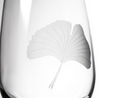 Ginkgo Engraved Stemless Wine Glass Set of 4 | Rolf Glass | 703336