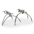 Cranes and Reeds Garden Sculptures Pair | 34885 | SPI Home