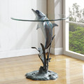 Surfacing Dolphin End Table | 34902 | SPI Home