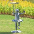 Frog Ballerina with Butterfly Sculptural Birdfeeder | 34919 | SPI Home