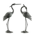 "Heron Garden Sculpture Pair ""Marshland Royals"" 
