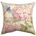 Dragonfly and Butterfly Indoor Outdoor Throw Pillow | SLFLDG