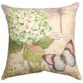 Dragonfly and Butterfly Indoor Outdoor Throw Pillow | SLFLDG -2