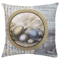 Bird Nest Reversible Throw Pillow | SLBLGY