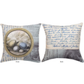 Bird Nest Reversible Throw Pillow | SLBLGY -3