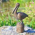"Pelican Garden Sculpture ""Feathered Fisherman"" | 51080 | SPI Home"