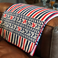 Captain's Stripes and Anchor  MicroPlush Throw Blanket   16154972