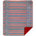 Captain's Stripes and Anchor  MicroPlush Throw Blanket | 16154972 -2