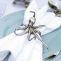 Octopus Napkin Ring Pewter Set of 4 | Vagabond House | O115O