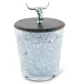 Cow Skull Hand Blown Glass Ice Bucket with Lid | W413CS -2
