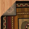 "Leaf & Paw Print Lodge Area Rug ""Canoe Sunset"" | United Weavers | 750-04043"