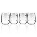 Sailing Engraved Stemless Wine Glass Set of 4 | Rolf Glass | 522333
