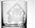 Pug Rocks Glass Set of 4 | Rolf Glass | 365688