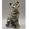 Blue Striped Cat Ceramic Figurine | De Rosa | 1035B