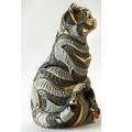 Blue Striped Cat Ceramic Figurine | De Rosa | 1035B -2