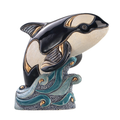 Orca Family Ceramic Figurine Set of 2 | De Rosa | F139-F339 -2