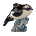 Orca Family Ceramic Figurine Set of 2 | De Rosa | F139-F339 -3