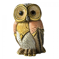 Eastern Owl Family Ceramic Figurine Set of 2  | De Rosa | F183-F383 -2