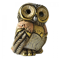 Eastern Owl Family Ceramic Figurine Set of 2  | De Rosa | F183-F383 -3