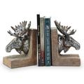 Moose Sculptural Bookends   48137   SPI Home