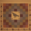 Heritage Farms Crow and Star Shower Curtain | VHC Brands | 45783 -2