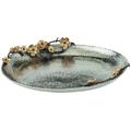 Wild Blossom Aluminum Oval Platter | Star Home Designs | 40266
