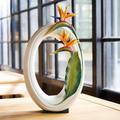 "Bird of Paradise Porcelain Vase ""Memory of Love"" | FZ03695 | Franz Collection"