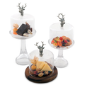 Elk Dessert Stand with Glass Dome   Vagabond House   VHCB445TEK-3