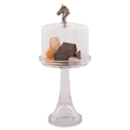 Horse Head Dessert Stand with Glass Dome | Vagabond House | VHCH445THH -1