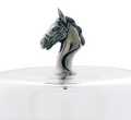 Horse Head Dessert Stand with Glass Dome | Vagabond House | VHCH445THH