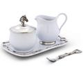 Horse Head Stoneware Creamer Set | Vagabond House | VHCH317EQ -3