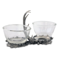 Fallen Antler Double Glass Dip Bowl | Vagabond House | VHCA417FA -2