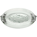 Salmon Glass Platter  | Arthur Court Designs | 102650
