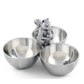Squirrel 3-Bowl Server | Arthur Court Designs | 114L12
