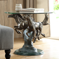 Running Horse Pair Aluminum End Table | SPI Home | 34943