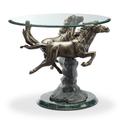 Running Horse Pair Aluminum End Table | SPI Home | 34943