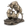 "Bull and Bear Fight Sculpture ""Stock Market"" | Bronze Finish | Unicorn Studios |  WU77493A1"