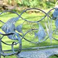 Seahorse and Fish Iron Garden Bench | Zaer International | ZR160016