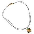 Scallop Shell Antique Gold Brass Necklace with Swarovski Crystal   Elaine Coyne Jewelry   ECGOCG26PDLE