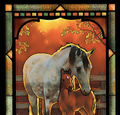 Horses Stained Glass Art | Quiet Time | Wild Wings | 5386498042