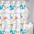 Animal Frolic Fabric Shower Curtain | Moda at Home