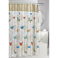 Butterfly Script Fabric Shower Curtain | Moda at Home