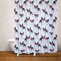 Dog Print Fabric Shower Curtain | Cool Frenchie | Moda at Home
