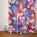 Chrysanthemum Flower Fabric Shower Curtain | Moda at Home