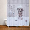 Dog Bath Fabric Shower Curtain | Moda at Home